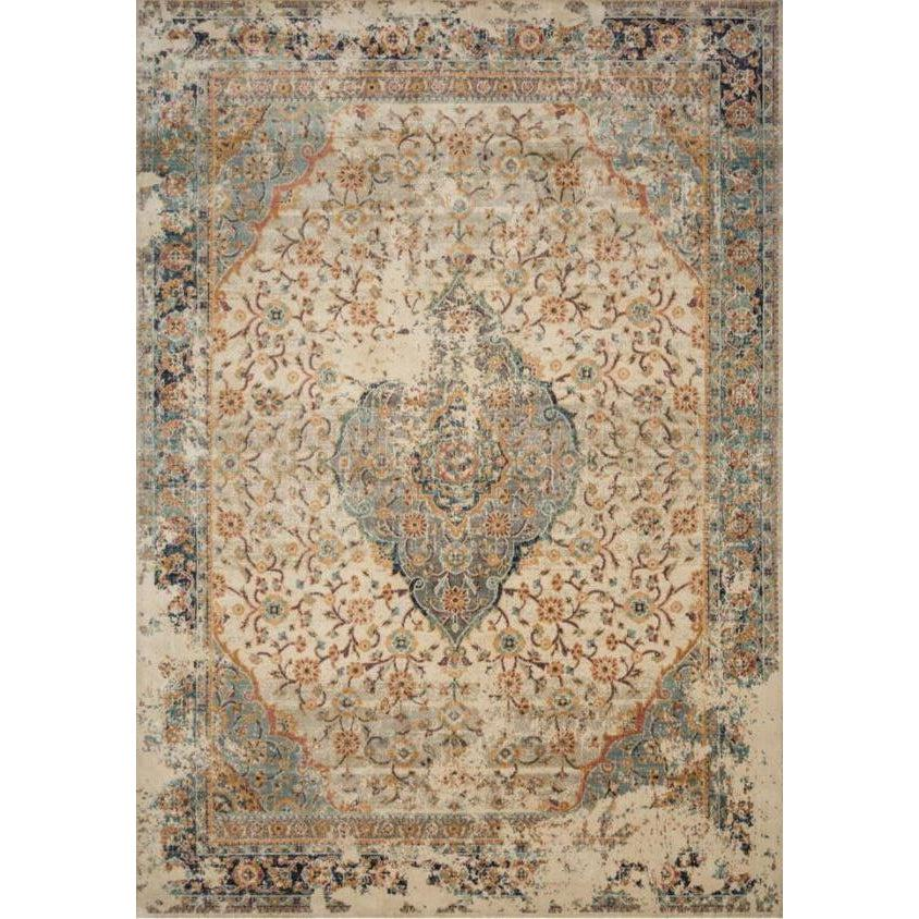 Joanna Gaines Evie Rug Collection - Sand/Multi-Loloi Rugs-Blue Hand Home