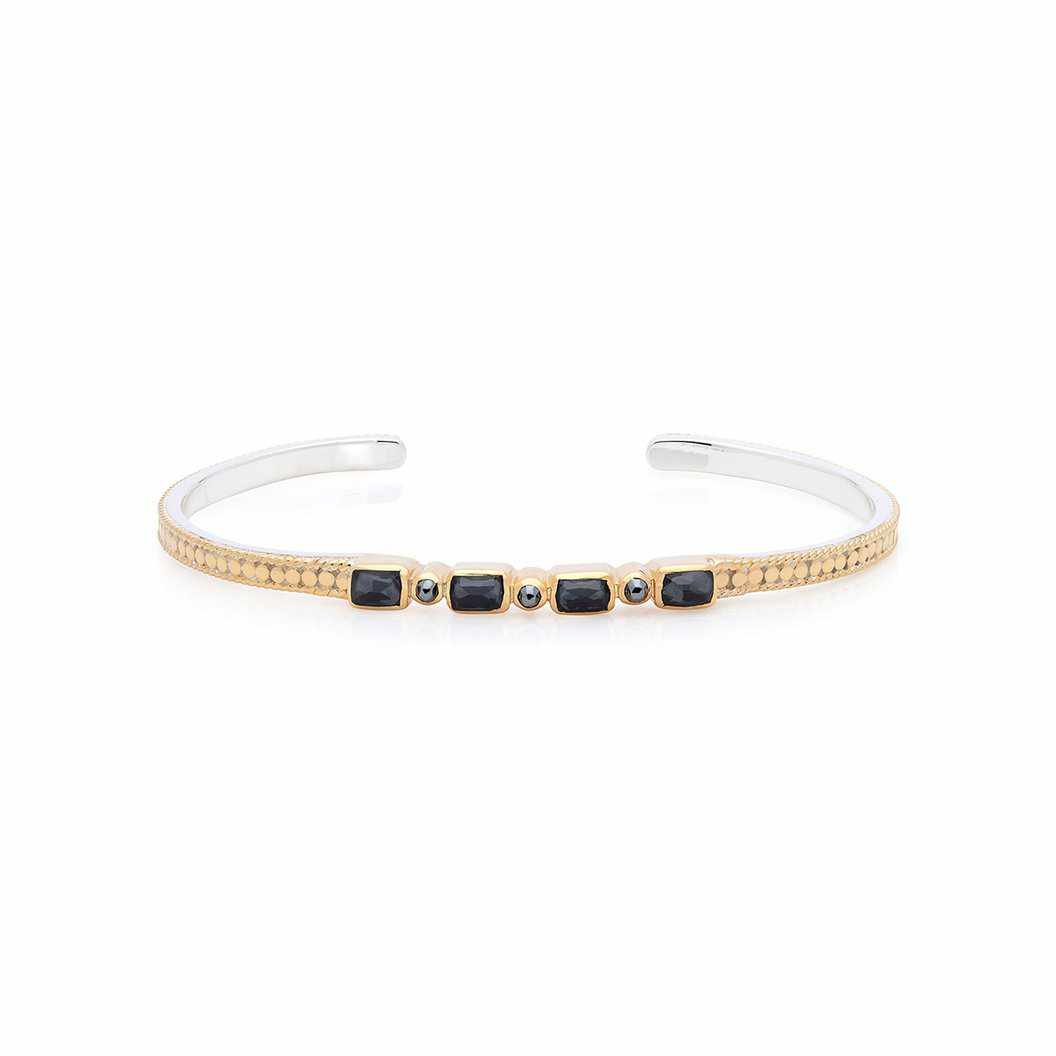Anna Beck Hematite Mosaic Stacking Cuff - Gold