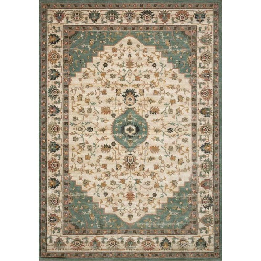 Joanna Gaines Evie Rug Collection - Ivory/Jade-Loloi Rugs-Blue Hand Home