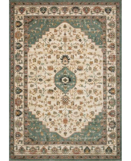 Joanna Gaines Evie Rug Collection - Ivory/Jade
