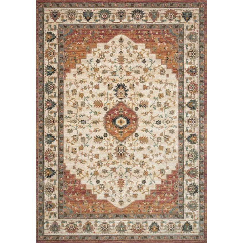 Joanna Gaines Evie Rug Collection - Ivory/Terracotta-Loloi Rugs-Blue Hand Home