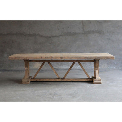 Salvaged Wood Trestle Dining Table-Organic Restoration-Blue Hand Home