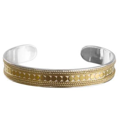 Anna Beck Skinny Cuff - Gold-Blue Hand Home