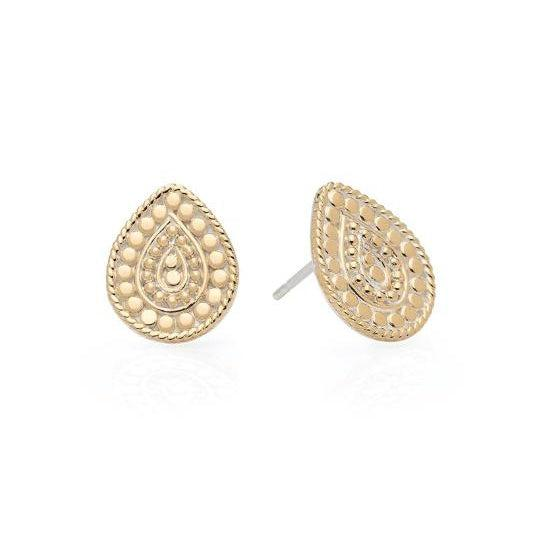Anna Beck Beaded Teardrop Stud Earrings - Gold
