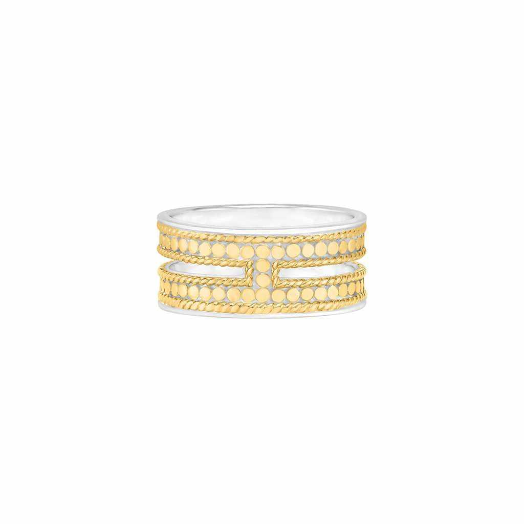 Anna Beck Double Bar Ring - Gold