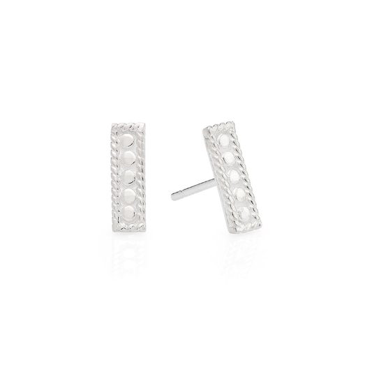 Anna Beck Petite Bar Stud Earrings - Silver