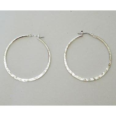 Susan Shaw Hoop Silver Earrings-Susan Shaw Jewelry-Blue Hand Home