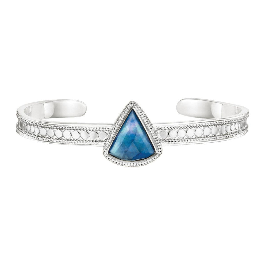 Anna Beck Lapis Triangle Skinny Cuff - Silver-Blue Hand Home