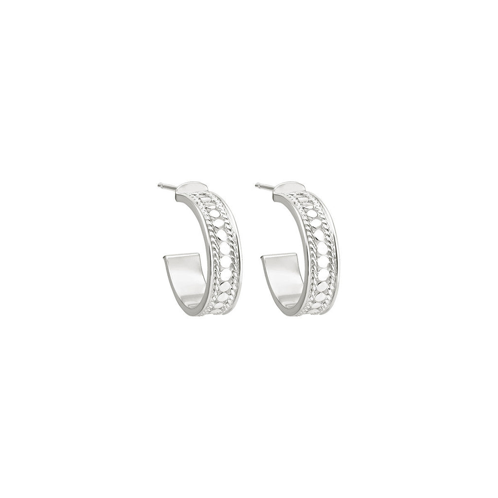 Anna Beck Hoop Post Earrings - Silver-Blue Hand Home