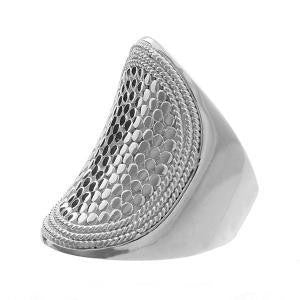 Anna Beck Gili Saddle Ring Silver-Blue Hand Home