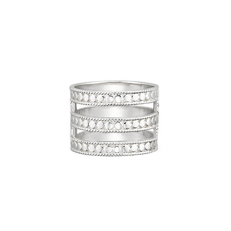 Anna Beck Triple Bar Ring - Silver
