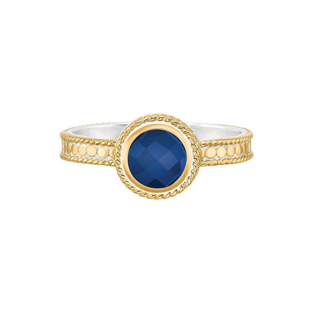 Anna Beck Wisdom Lapis Single Stone Ring - Gold-Blue Hand Home