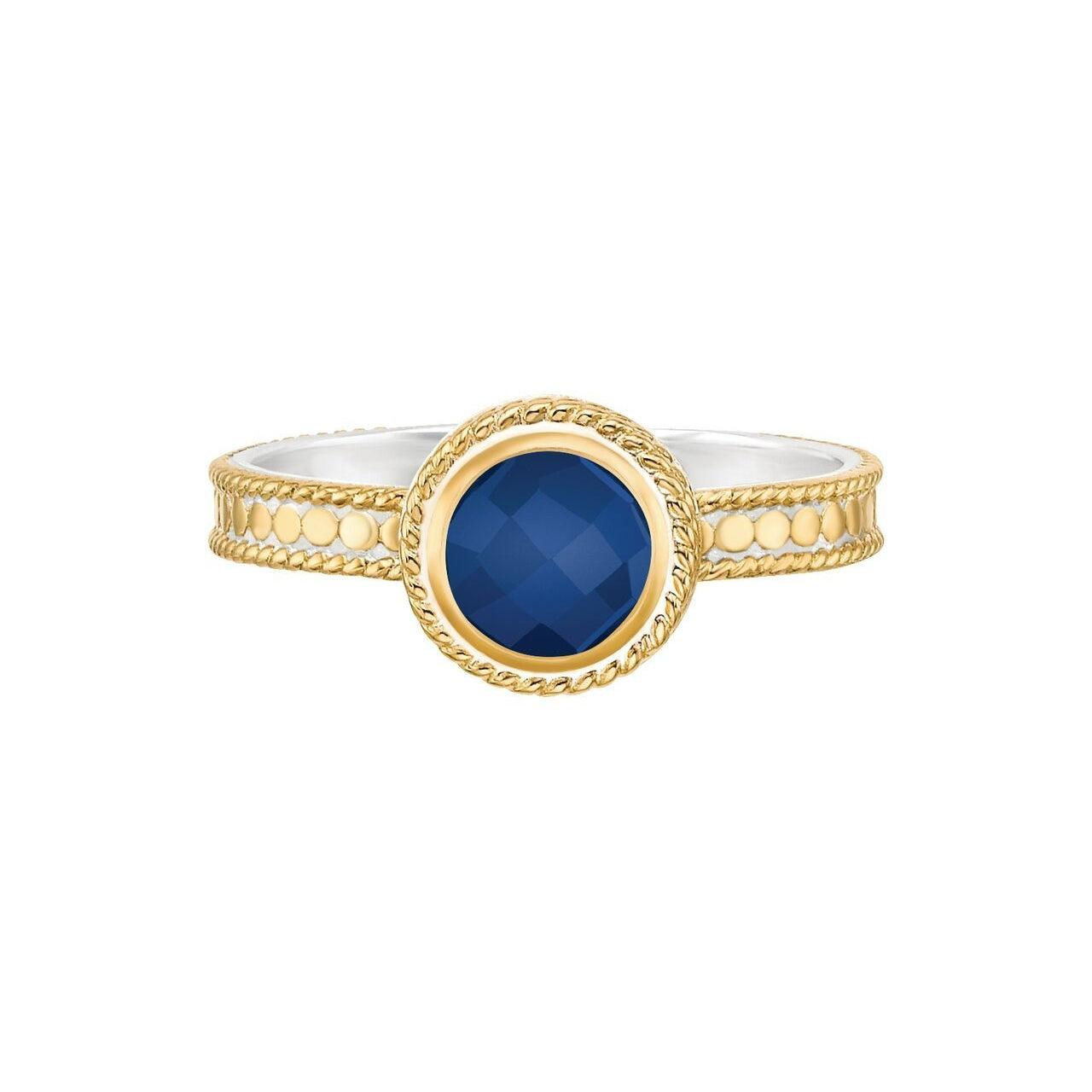Anna Beck Wisdom Lapis Single Stone Ring - Gold
