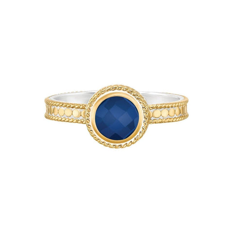 Anna Beck WISDOM Stone Stack Ring - Gold Lapis-Blue Hand Home