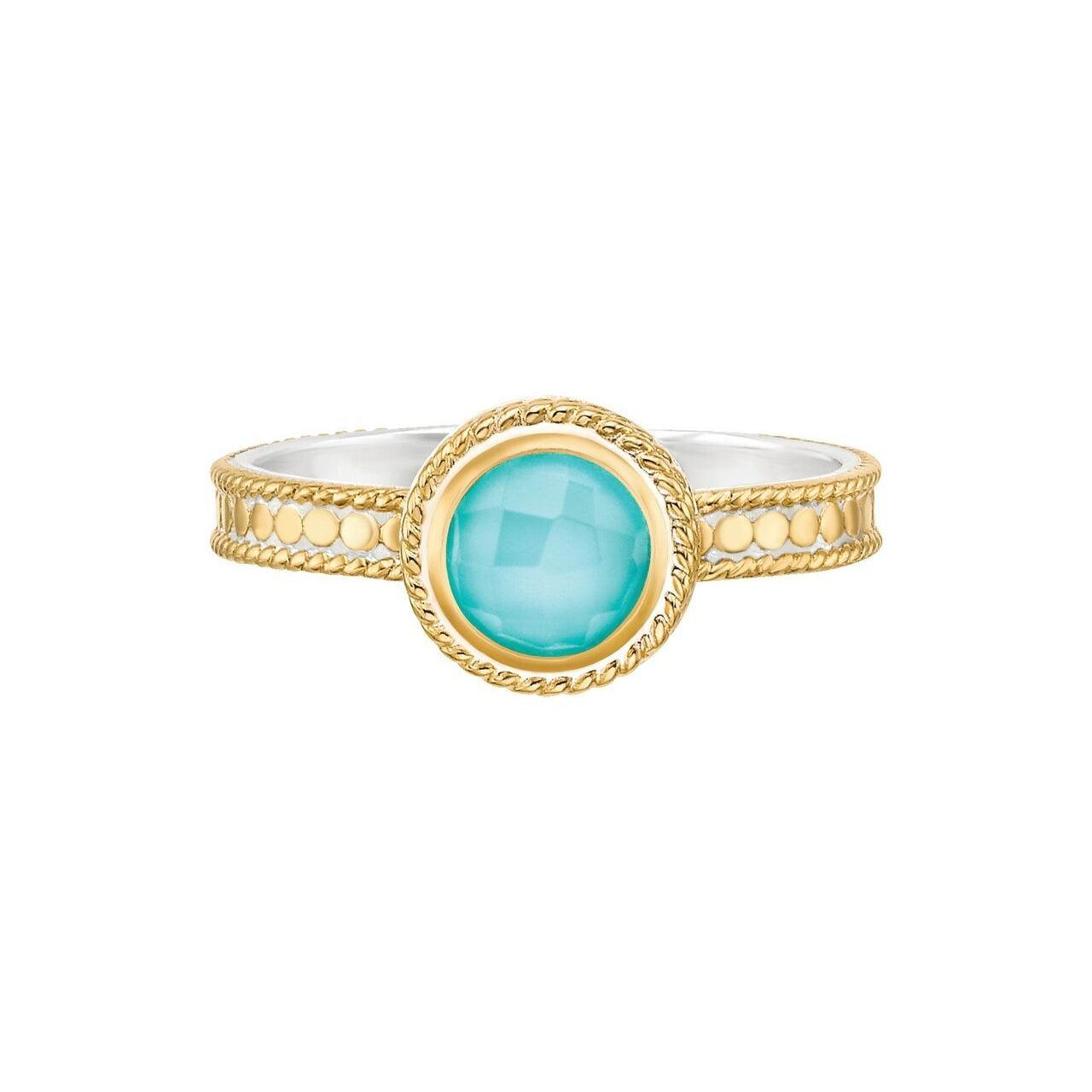 Anna Beck Abundance Turquoise Single Stone Ring - Gold
