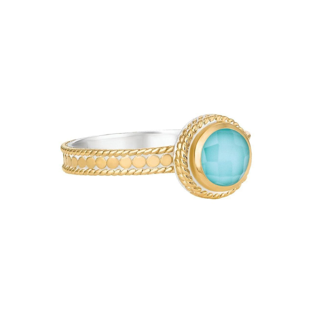 Anna Beck Abundance Turquoise Single Stone Ring - Gold-Anna Beck Jewelry-Blue Hand Home