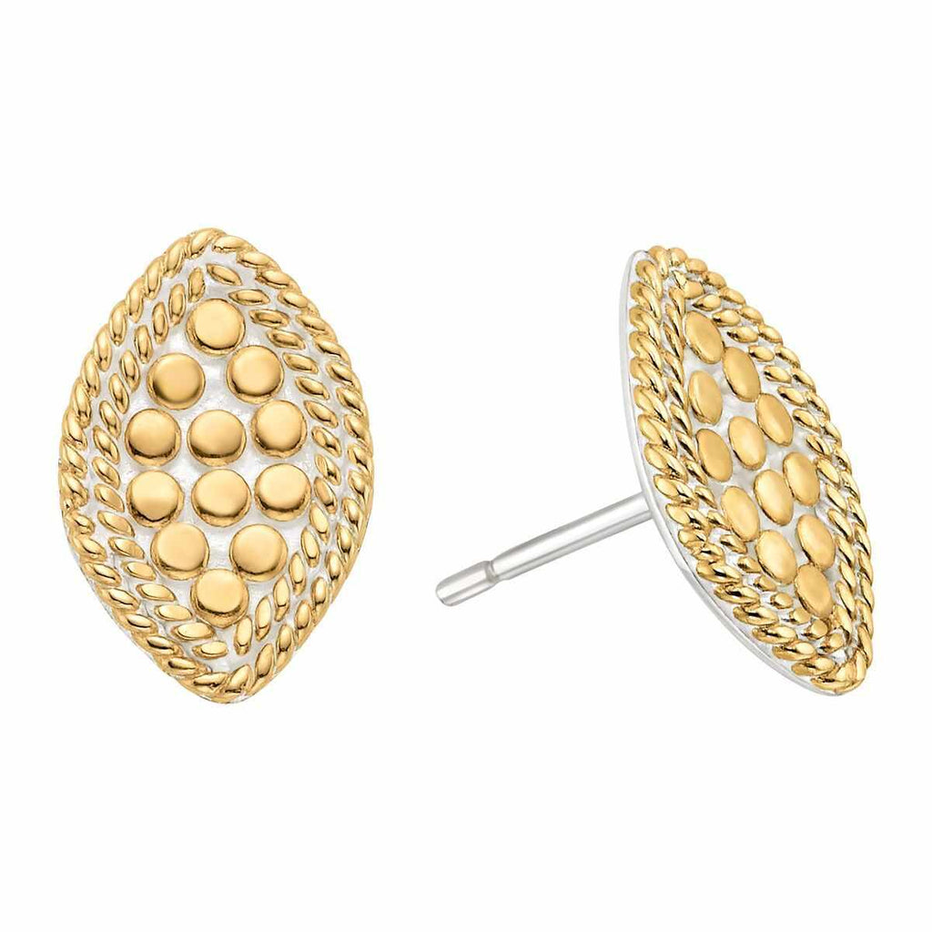 Anna Beck Marquise Stud Earrings - Gold-Blue Hand Home