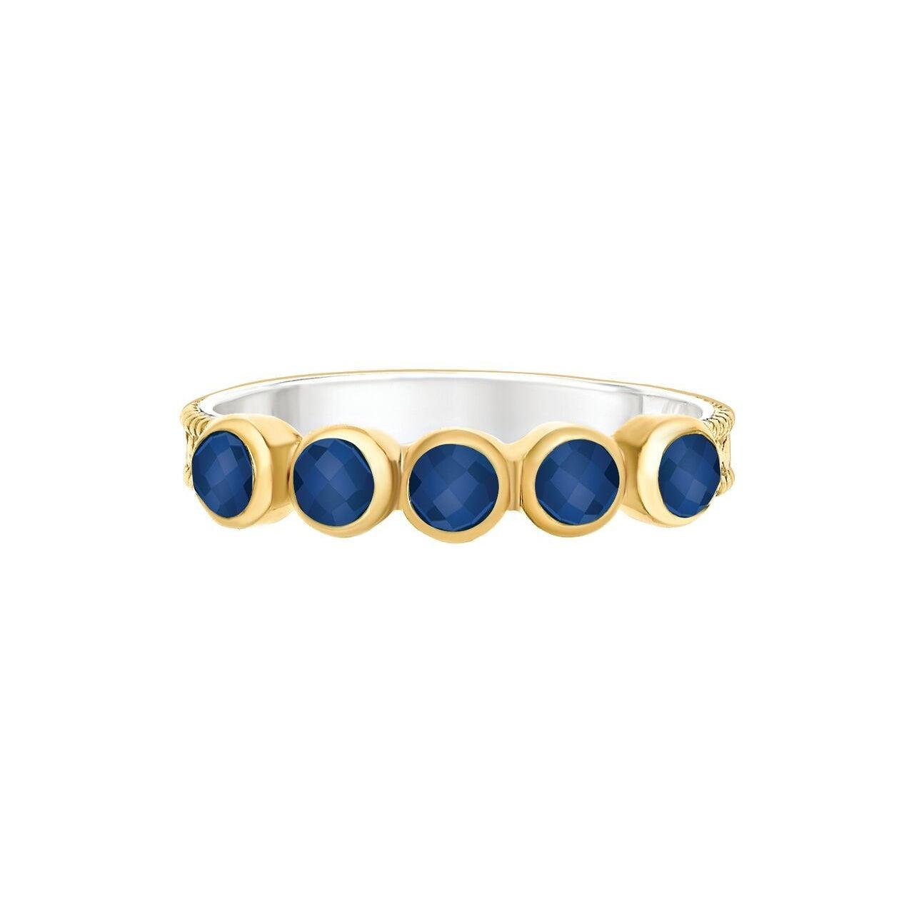 Anna Beck Wisdom Lapis Multi-Stone Ring - Gold