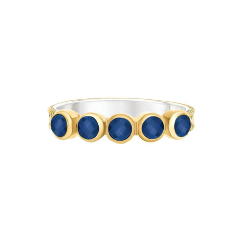Anna Beck WISDOM Stack Ring - Gold Lapis-Blue Hand Home
