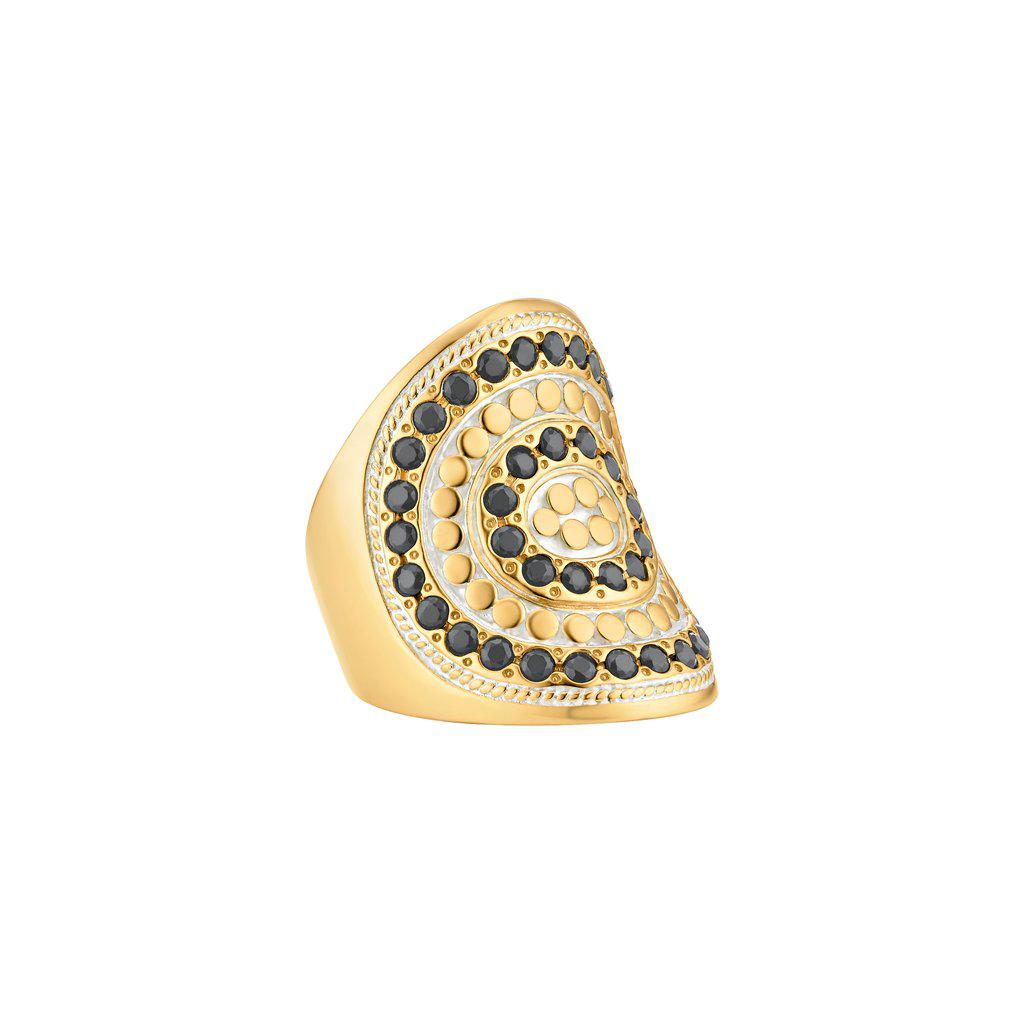 Anna Beck Grey Sapphire Beaded Saddle Ring