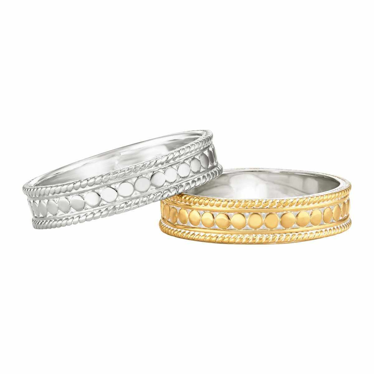 Anna Beck Stacking Rings Set of 2 - Silver and Gold