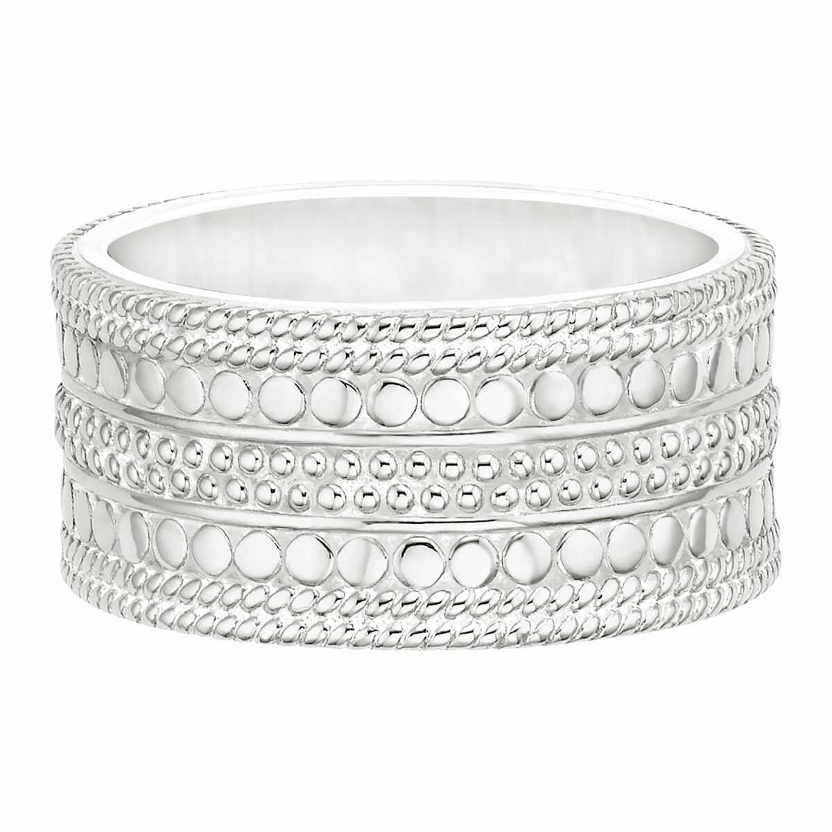 Anna Beck Divided Cigar Band Ring- Silver