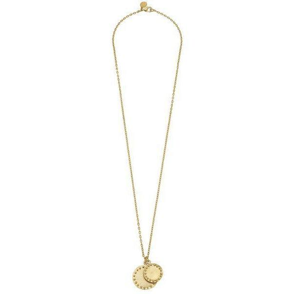 "Susan Shaw 30"" Handcast Gold Double Circle with Dots Chain Necklace-Susan Shaw Jewelry-Blue Hand Home"