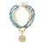 Susan Shaw Multi-Strand Fire Agate with Handcast Gold Bee Necklace