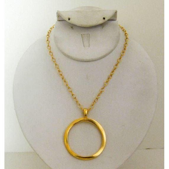 Susan Shaw Handcast Gold Ring Necklace