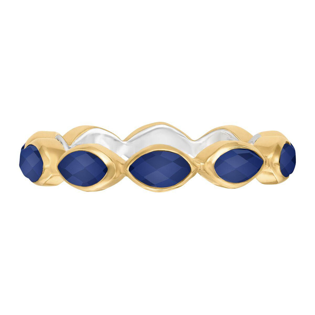 Anna Beck Lapis Multi Stone Ring - Gold-Blue Hand Home