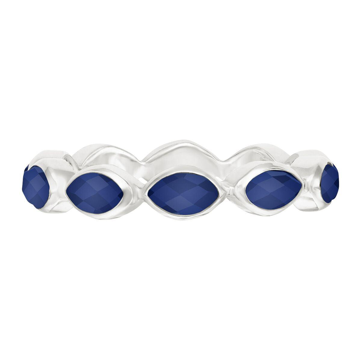 Anna Beck Lapis Multi Stone Ring - Silver
