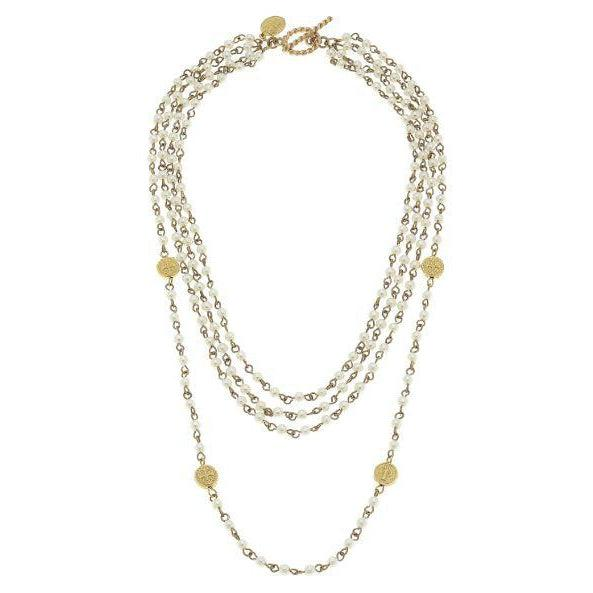 Susan Shaw Ivory Linked Pearl Necklace