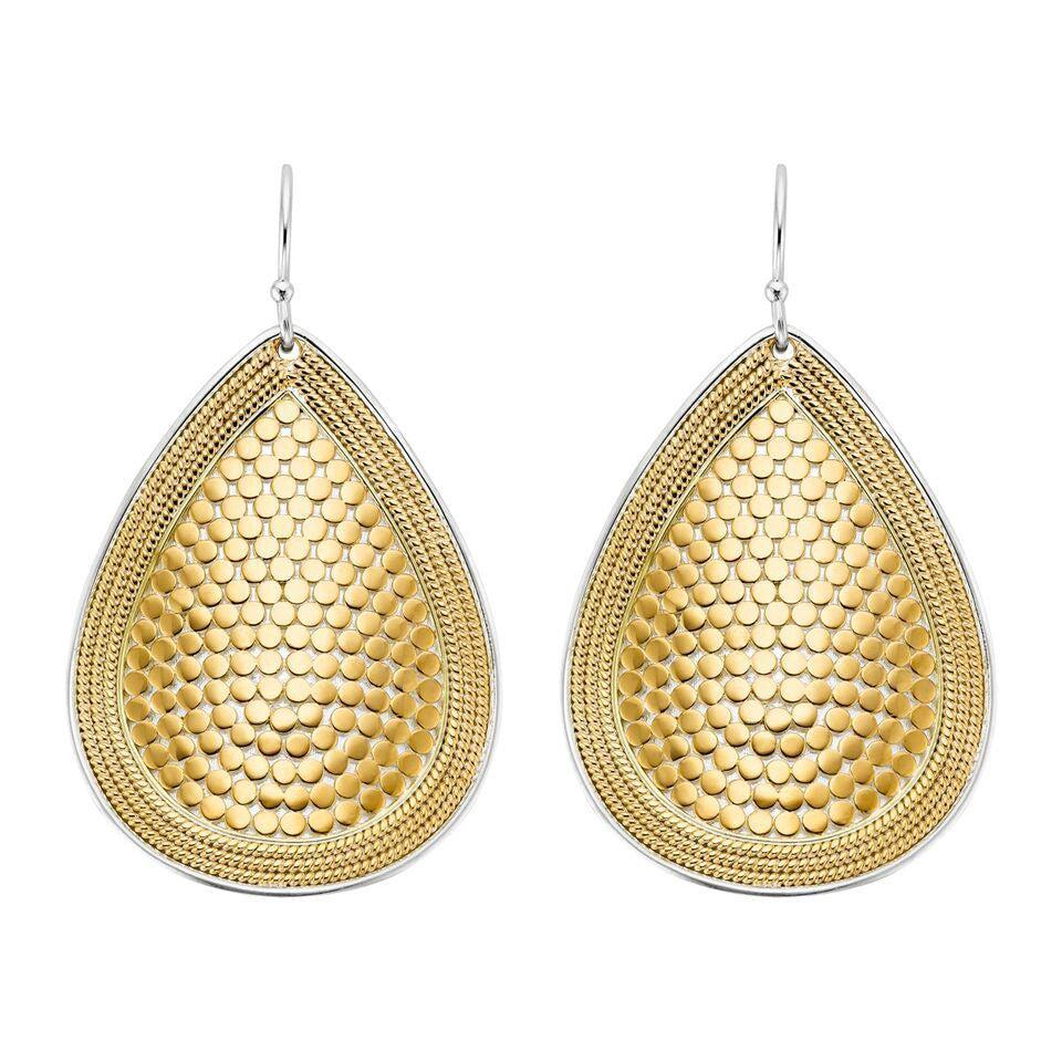Anna Beck Teardrop Earrings - Gold-Anna Beck Jewelry-Blue Hand Home