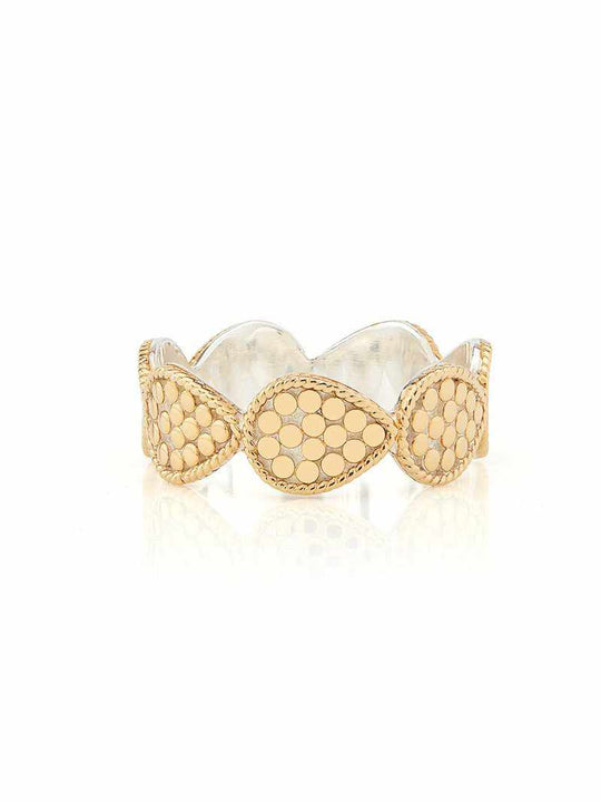 Anna Beck Mini Teardrop Band Ring - Gold