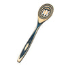 Blue Pakka 12in Wood Slotted Spoon