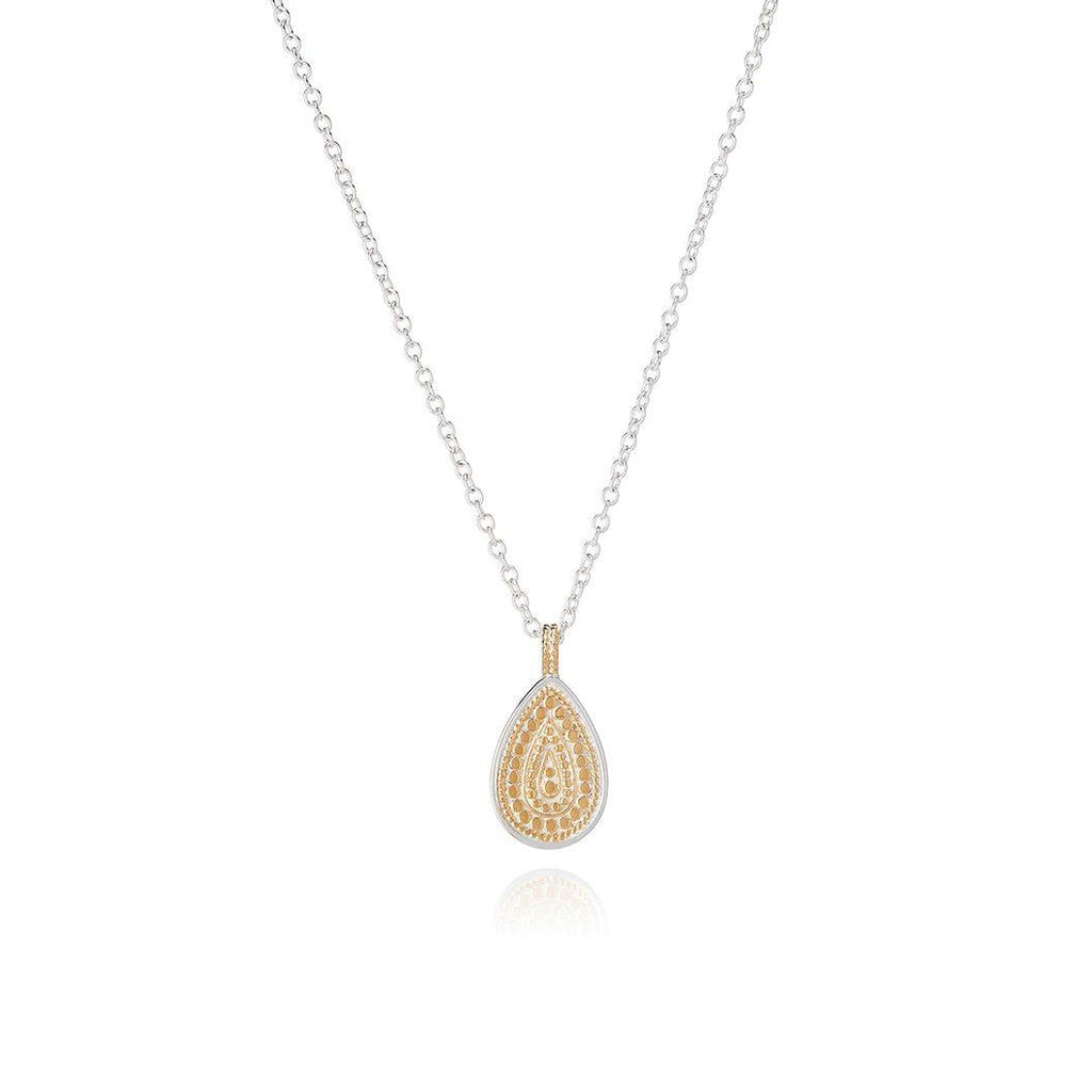 Anna Beck Signature Beaded Single Drop Pendant Necklace-Anna Beck Jewelry-Blue Hand Home