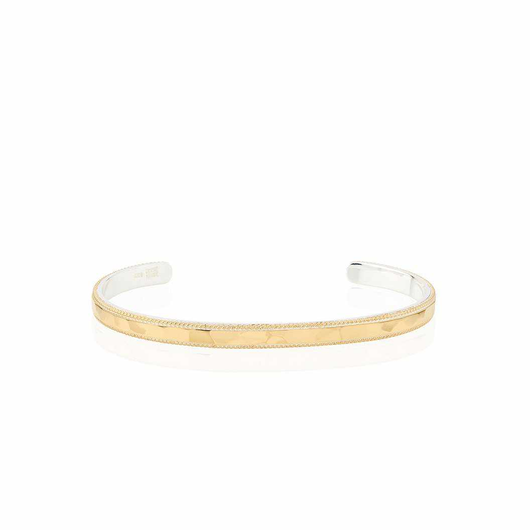 Anna Beck Hammered and Wired Stacking Cuff - Gold-Anna Beck Jewelry-Blue Hand Home