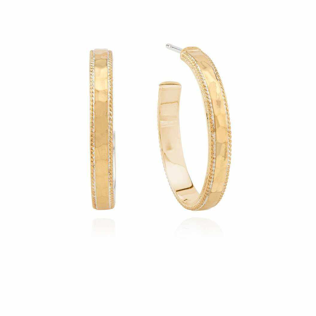 Anna Beck Small Hammered Hoop Earrings - Gold
