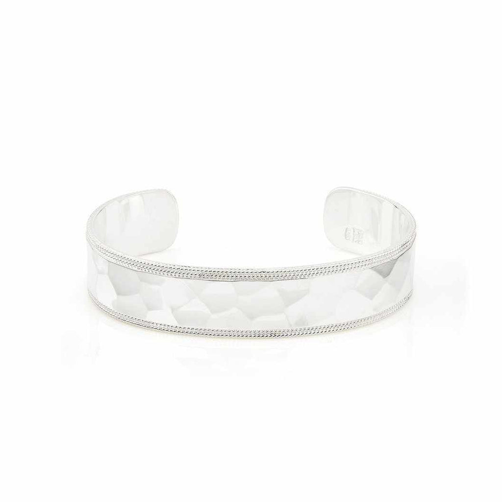 Anna Beck Hammered Cuff - Silver-Anna Beck Jewelry-Blue Hand Home