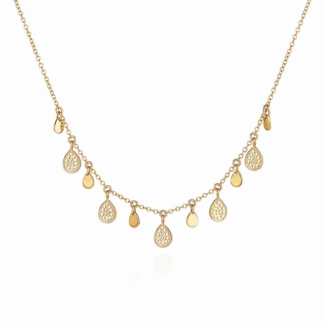 Anna Beck Teardrop Charm Collar Necklace - Gold