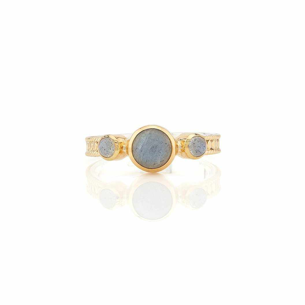 Anna Beck Labradorite Triple Stone Stacking Ring - Gold