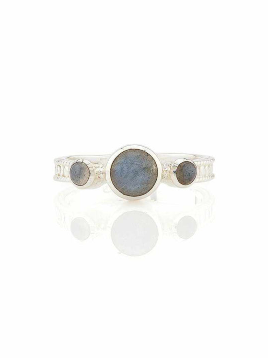 Anna Beck Labradorite Triple Stone Stacking Ring - Silver
