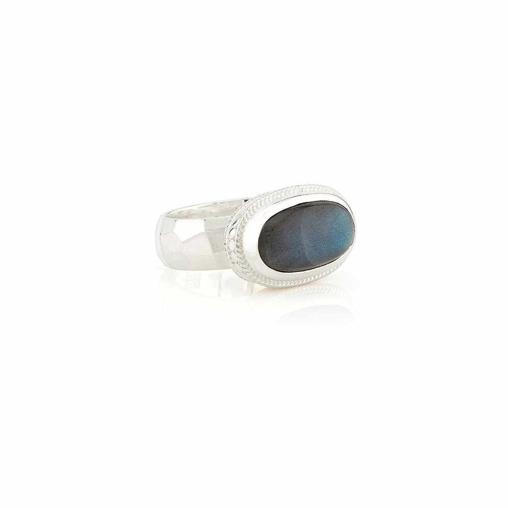 Anna Beck Labradorite Cocktail Ring - Silver-Anna Beck Jewelry-Blue Hand Home