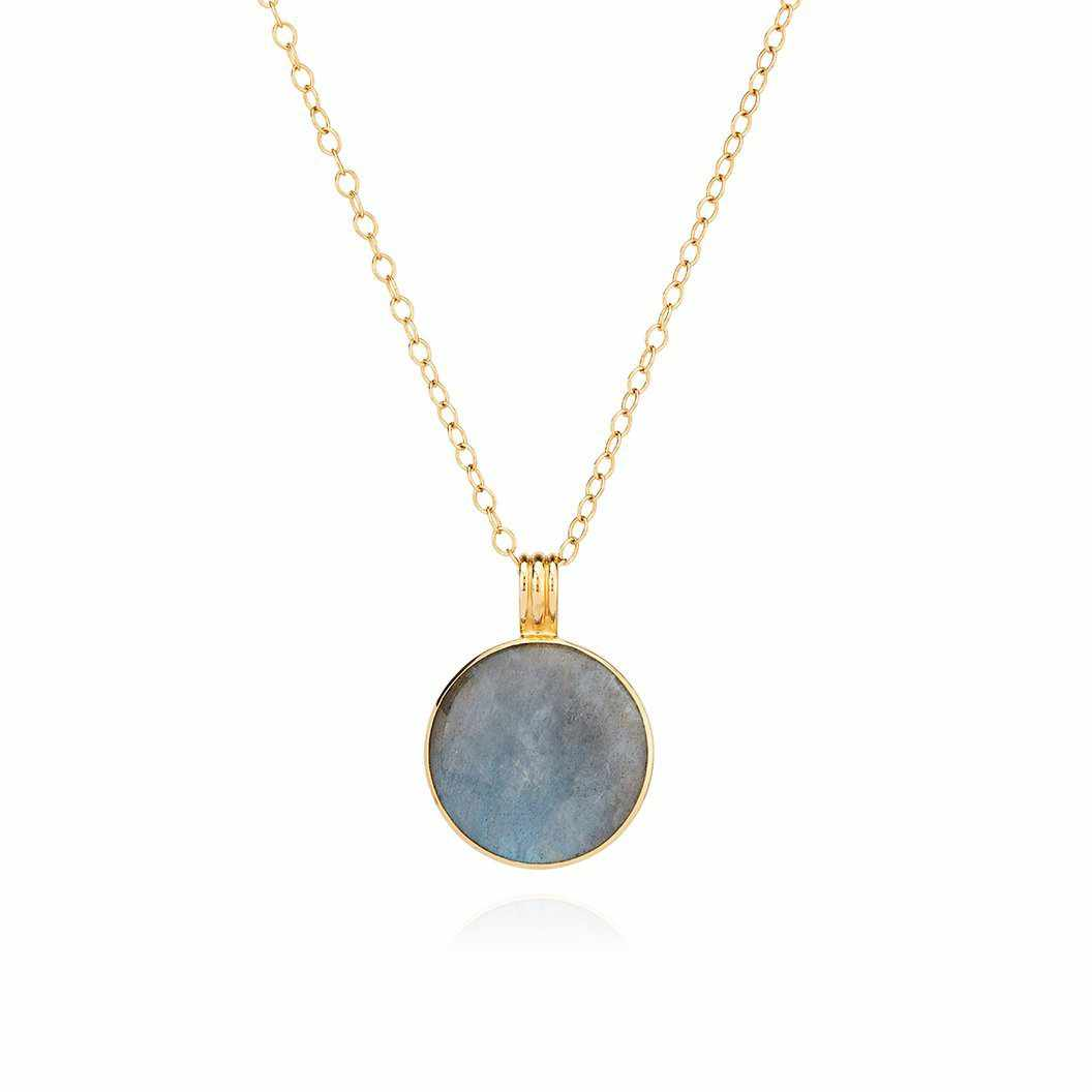 Anna Beck Large Labradorite Pendant Necklace - Gold