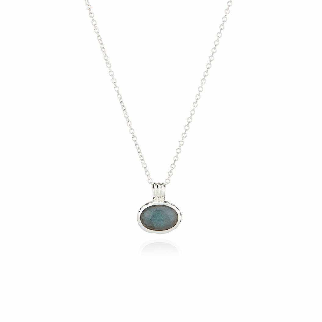 Anna Beck Small Labradorite Pendant Necklace - Silver