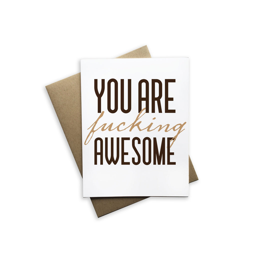 Tiramisu Paperie - You Are Fucking Awesome Notecard-Tiramisu Paperie-Blue Hand Home