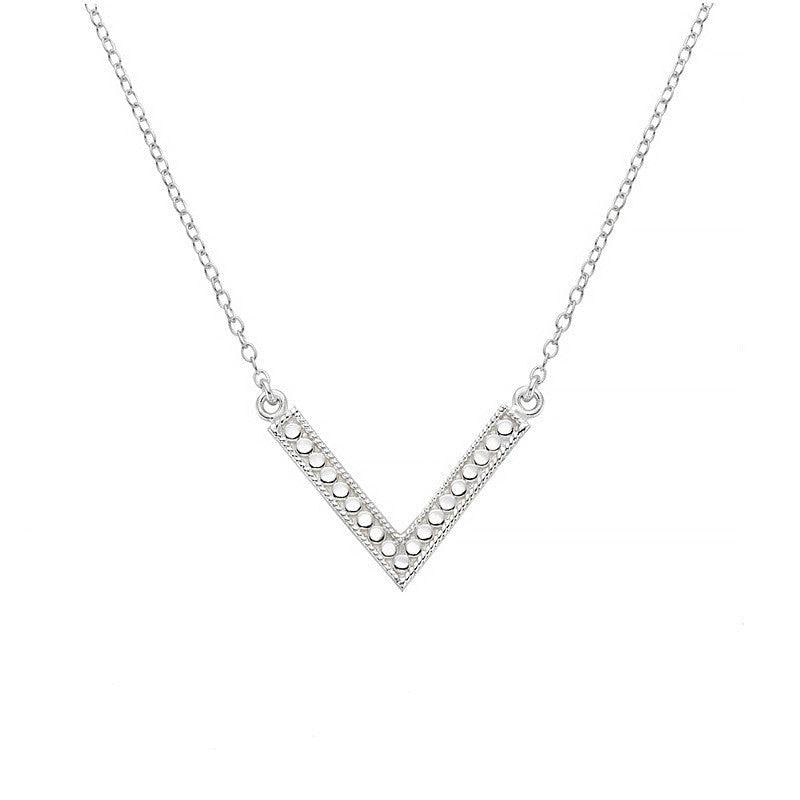 Anna Beck V Necklace (Double-Sided) - Silver