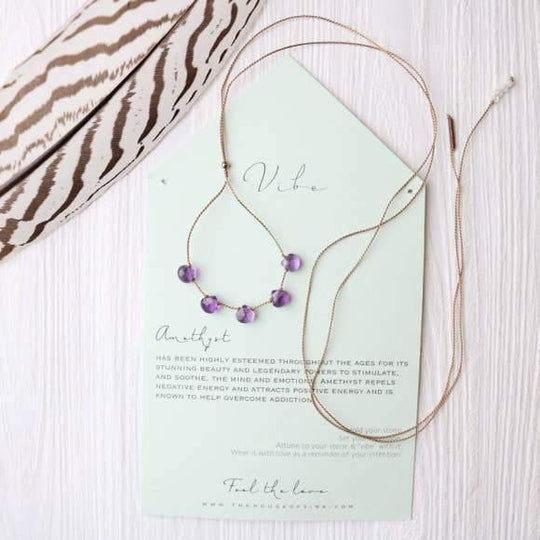 5 Stone - Amethyst Necklace