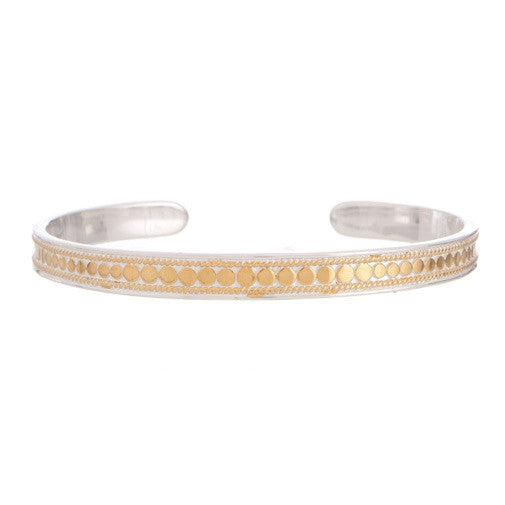 Anna Beck Gili Skinny Cuff - Gold-Anna Beck Jewelry-Blue Hand Home