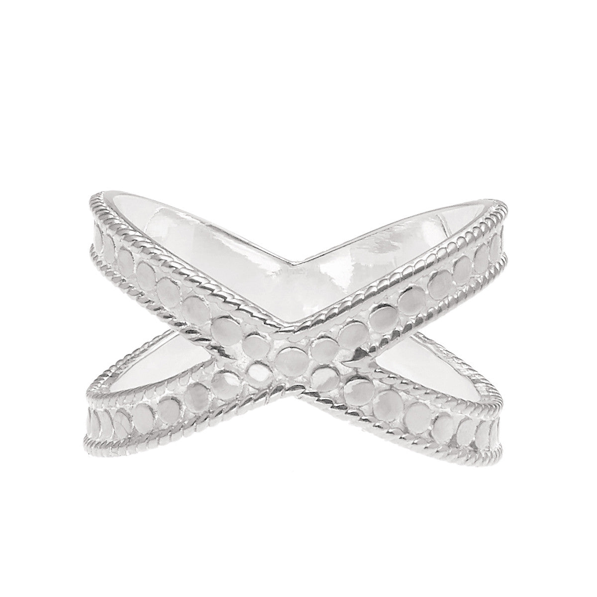 Anna Beck Single Cross Ring - Silver-Anna Beck Jewelry-Blue Hand Home
